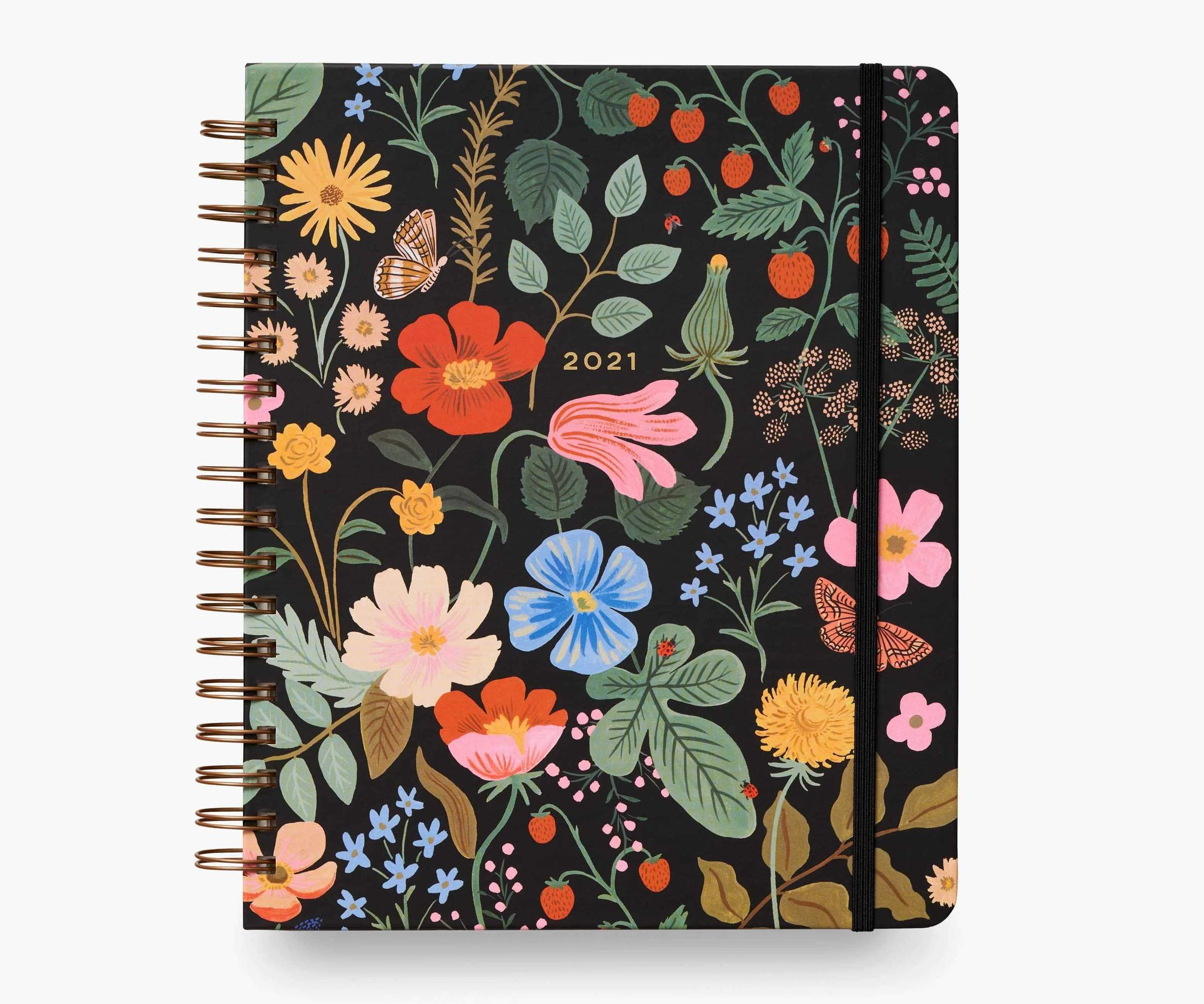 RIFLE - 2021 STRAWBERRY FIELDS SPIRAL 17 month planner
