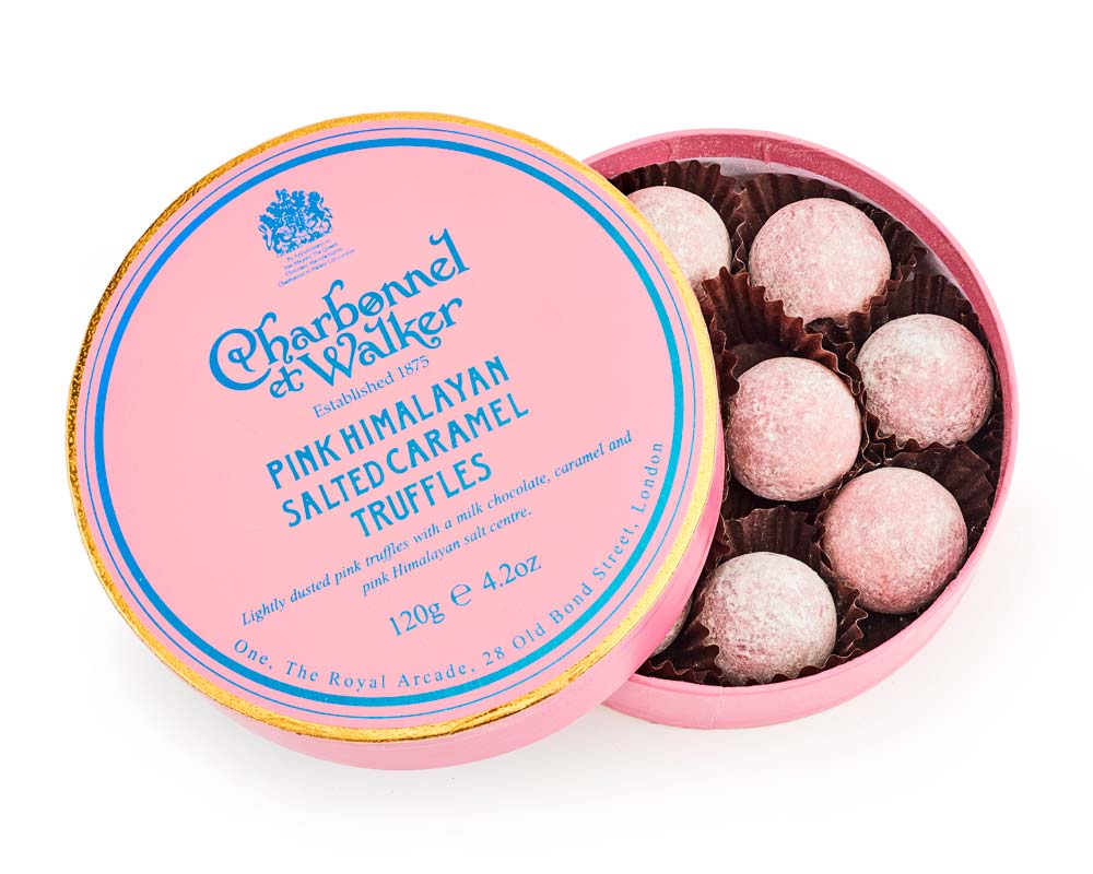 CHARBONNEL ET WALKER - Pink Himalayan Salted Caramel Chocolate Truffles 120g