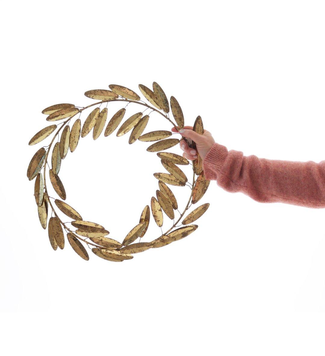 BUNGALOW - Golden Wreath Leaf Large 44cm