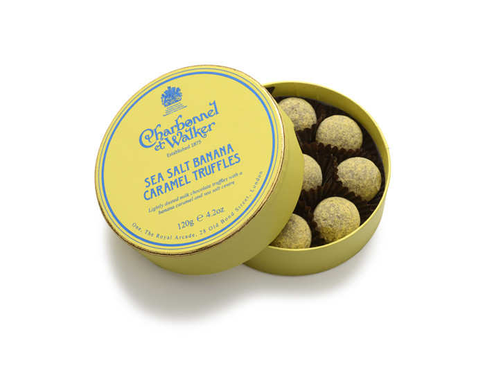 Charbonnel et Walker - Sea Salt Banana Caramel Truffles, 120 gr.