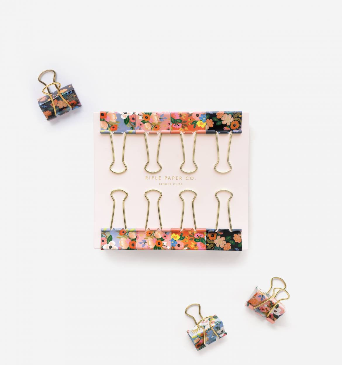 RIFLE - Lively floral binder clips