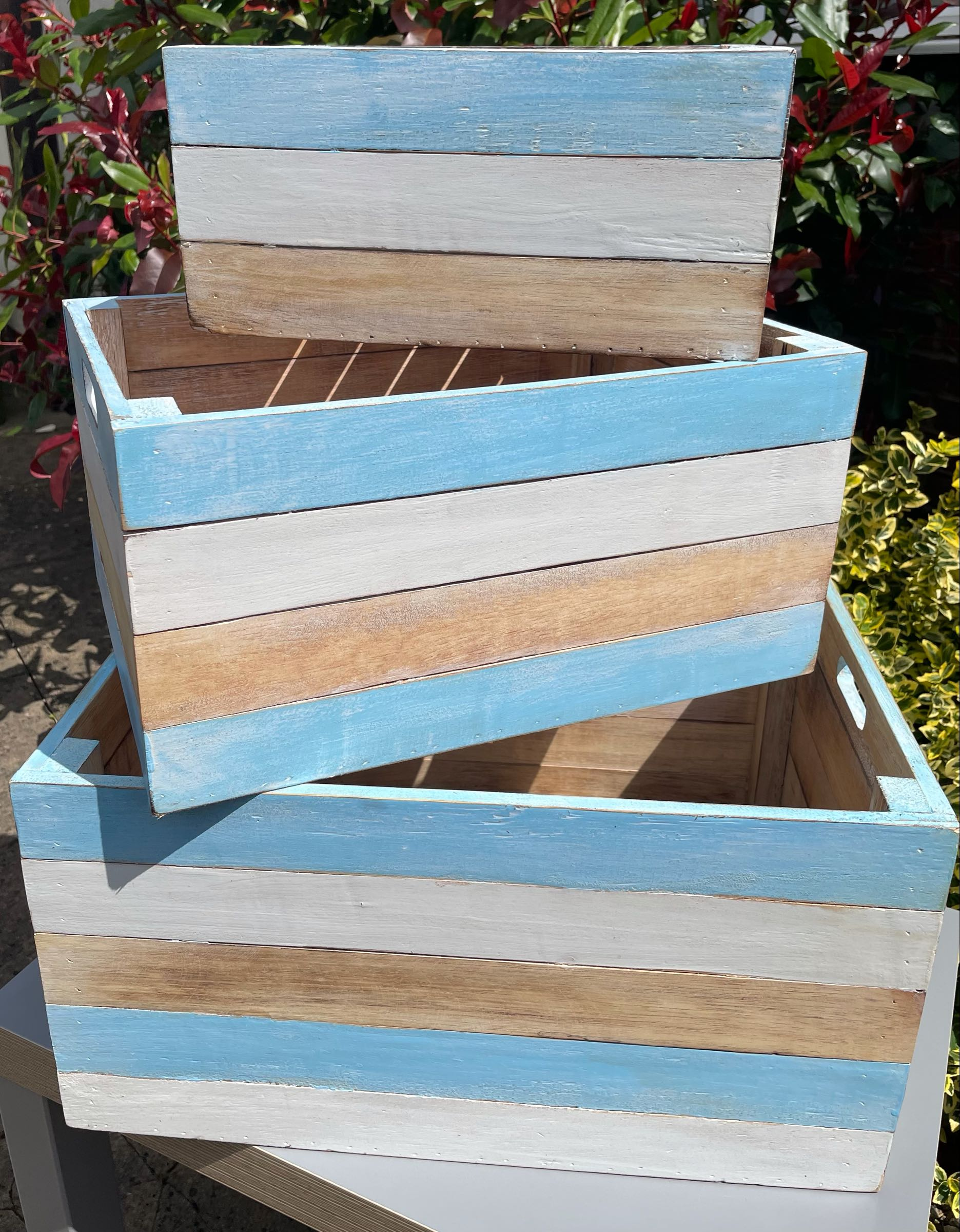 Pastel Blue Crate