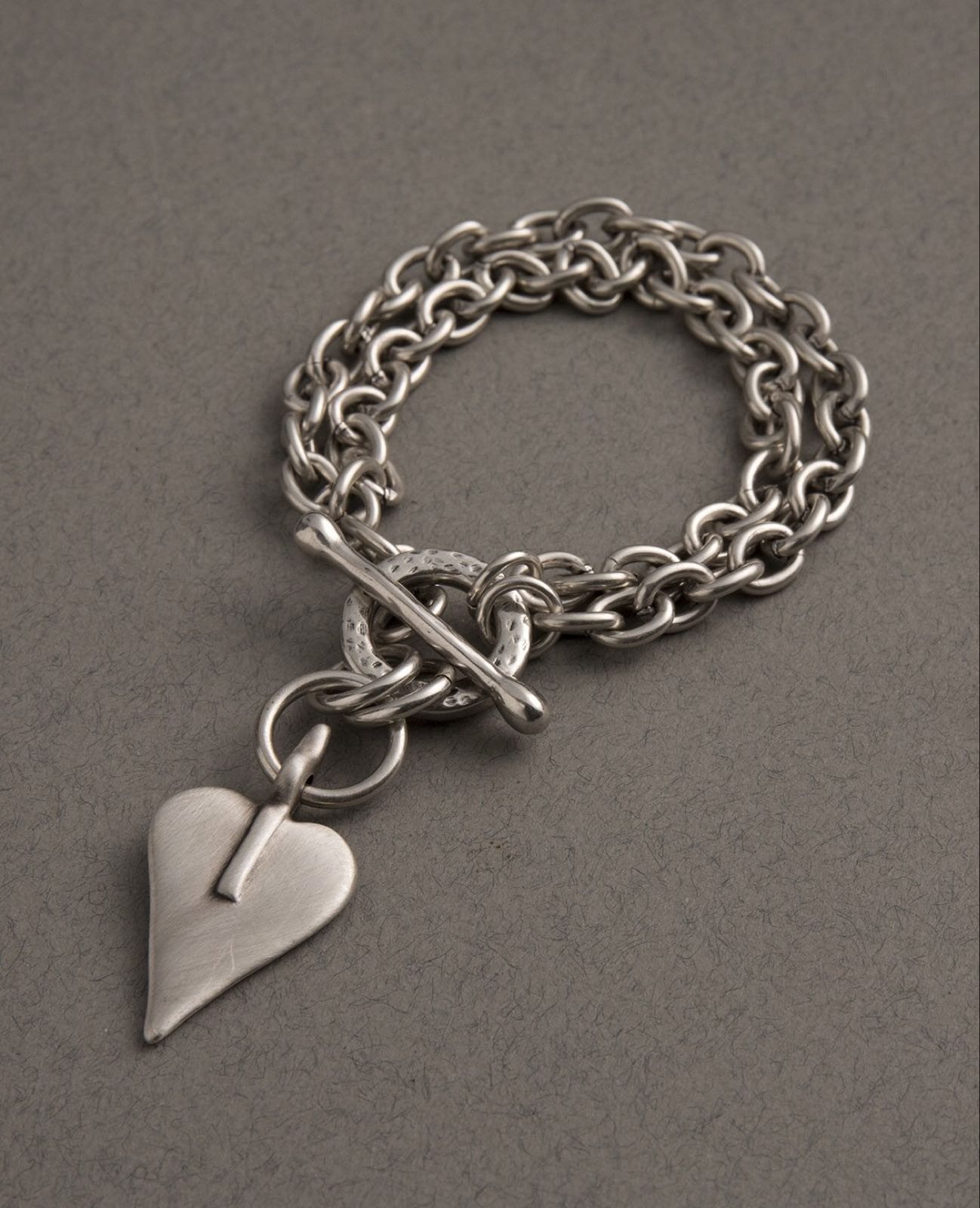 Danon Heart chunky double bracelet was £56