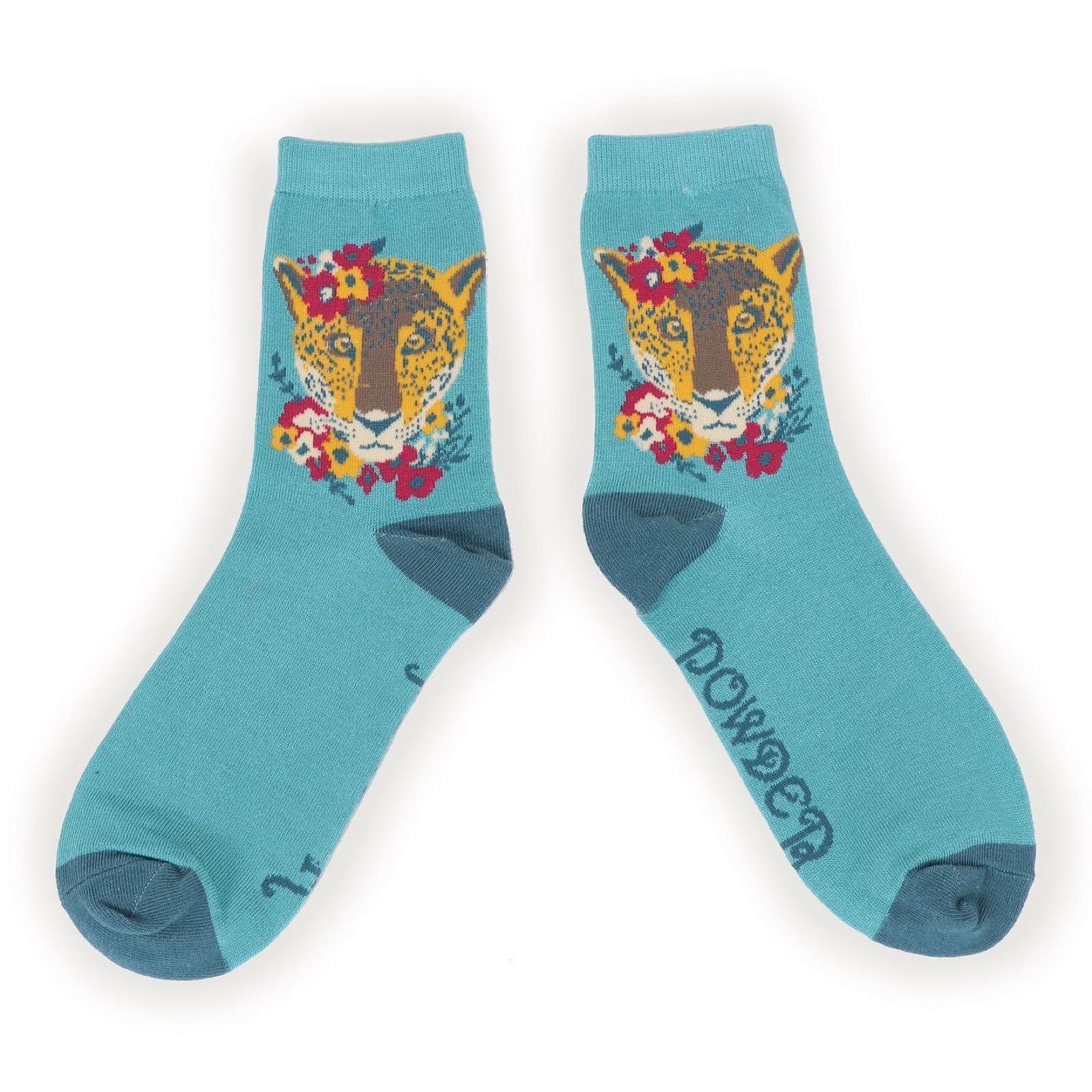 Powder Leopard socks