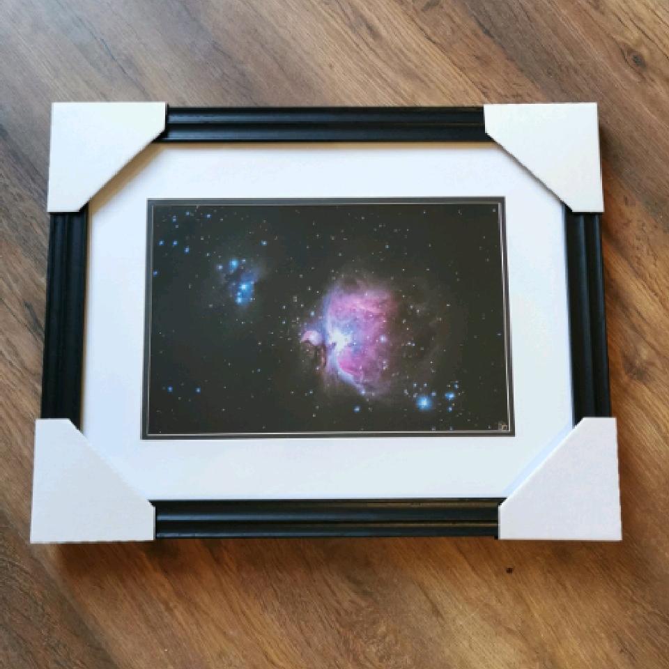 Orion Nebula, A4, signed, black