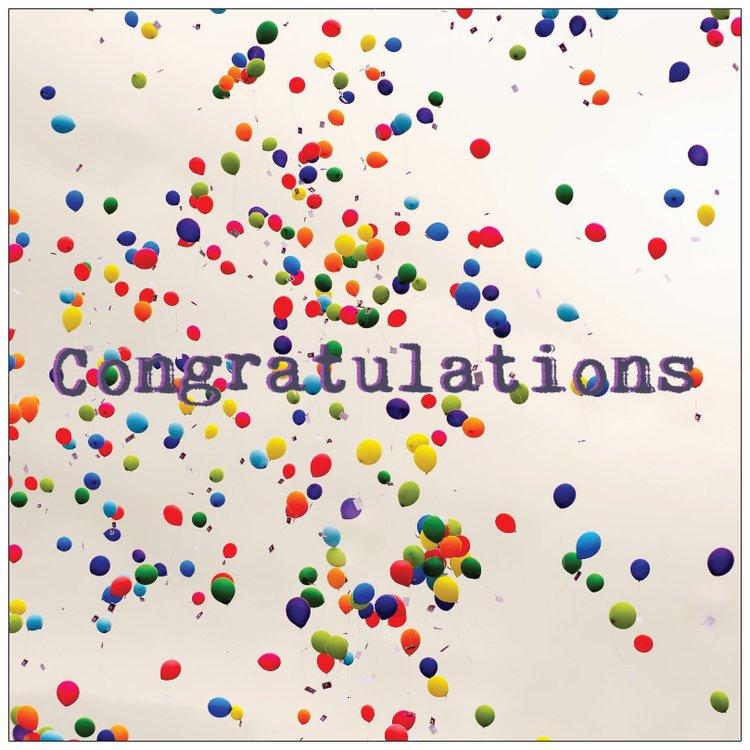 Cards - Congratulations Balloons