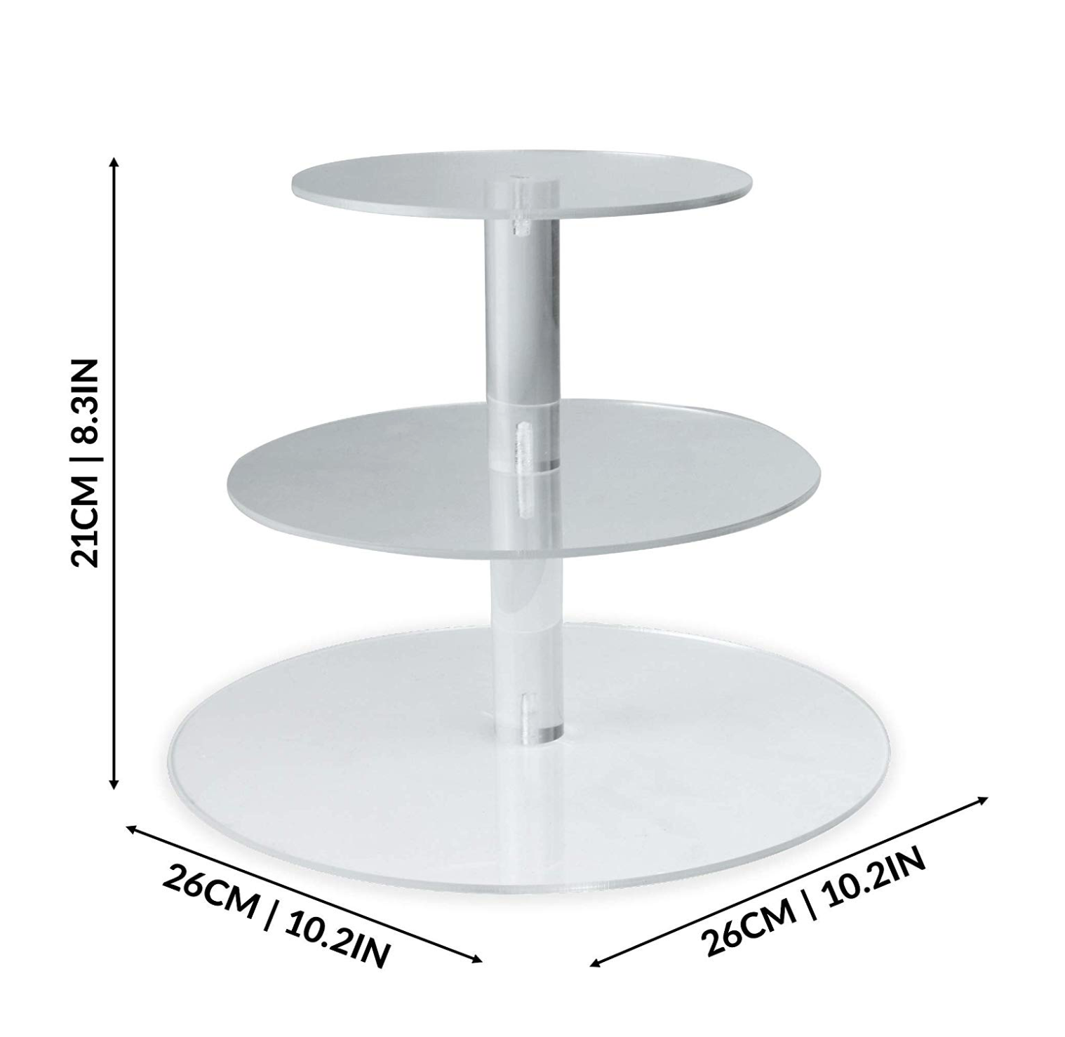 Tiered Acrylic Cake Stand