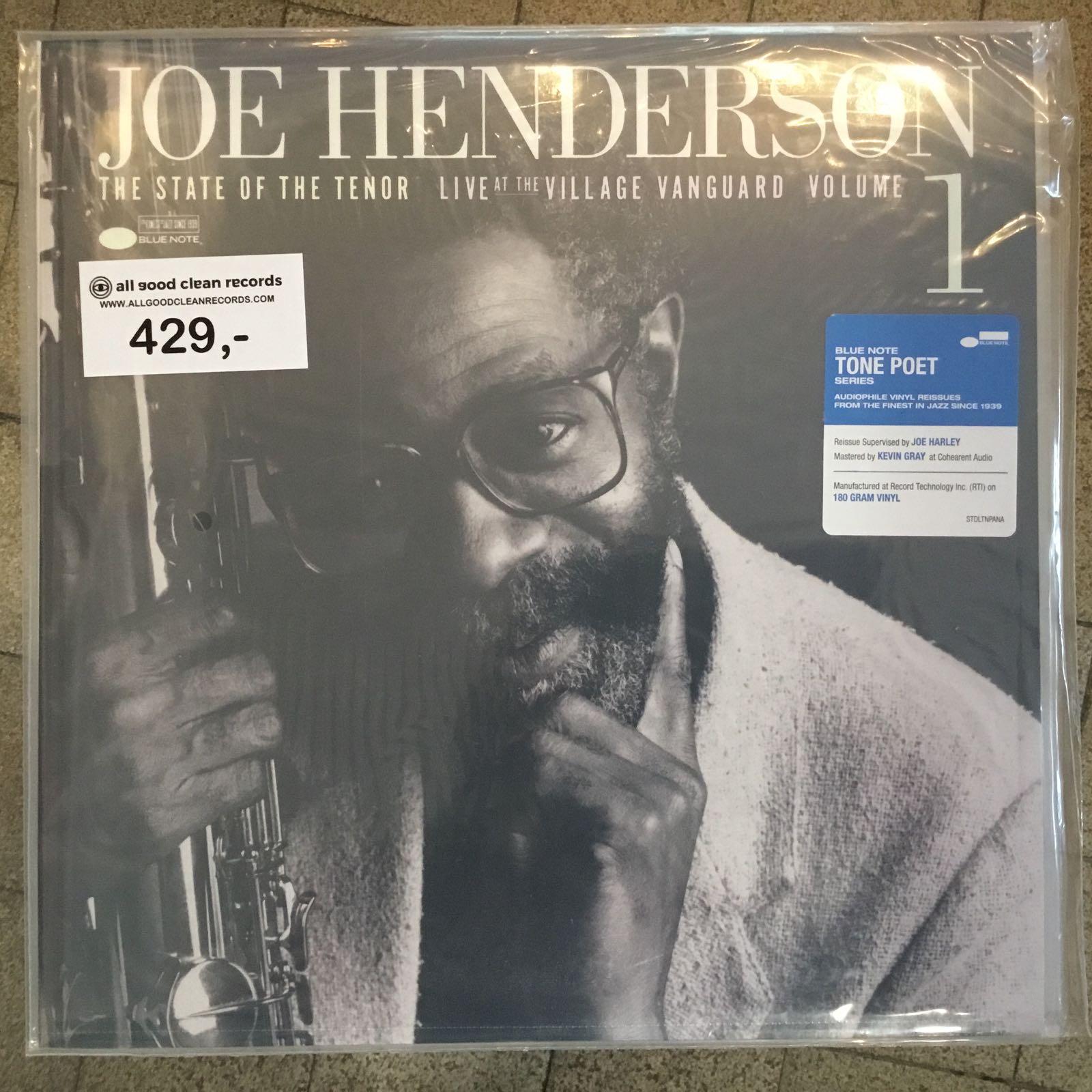 Joe Henderson - State Of The Tenor / Vol. 1 / Live At The Village Vanguard /1985 [LP]