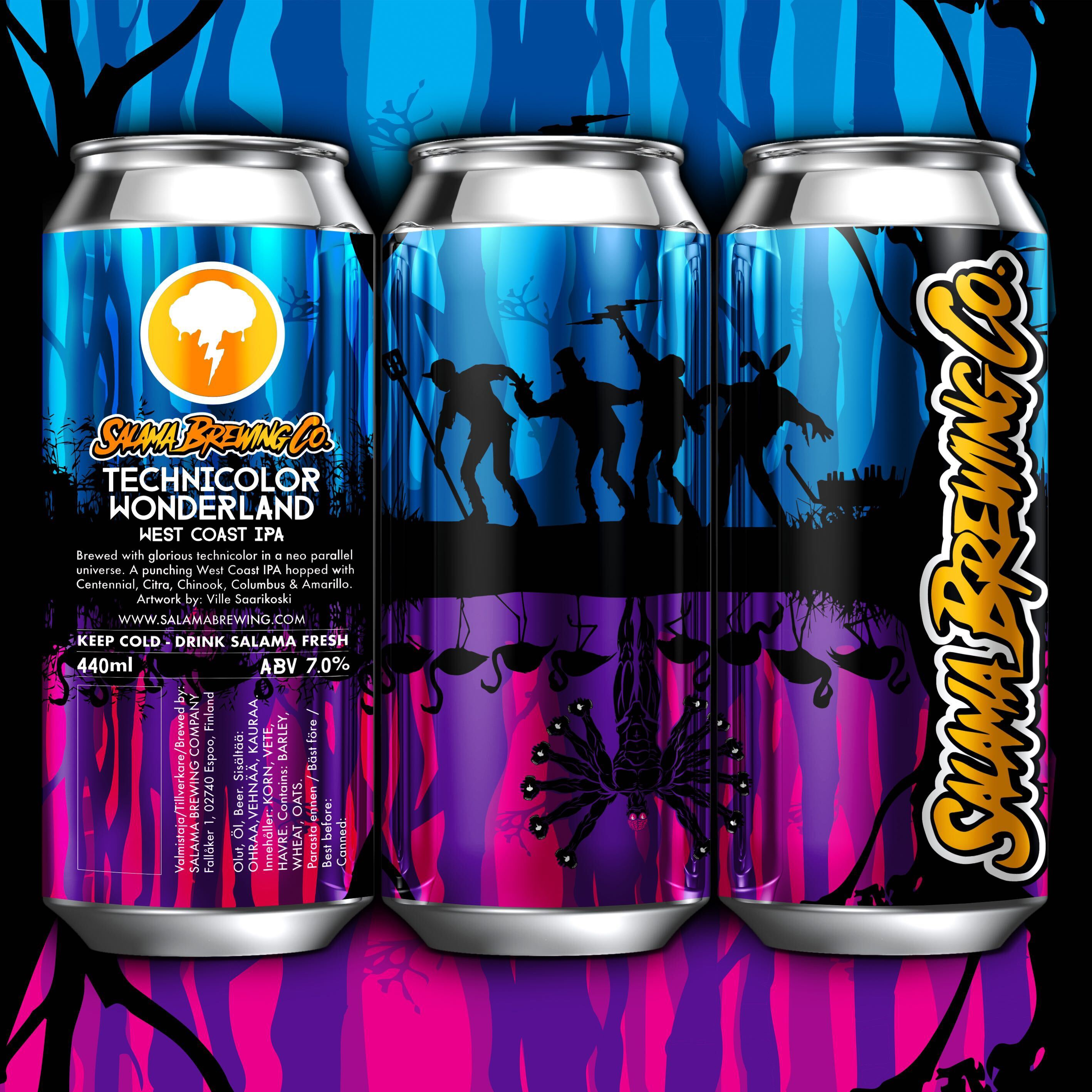 Technicolor Wonderland West Coast IPA 7% 440 can
