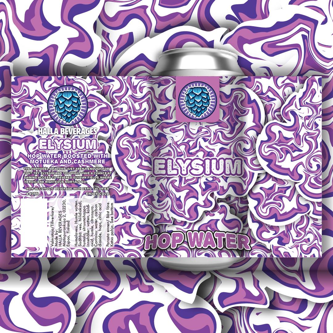 Halla Beverages - Elysium Hop Water 0.0% 440 can