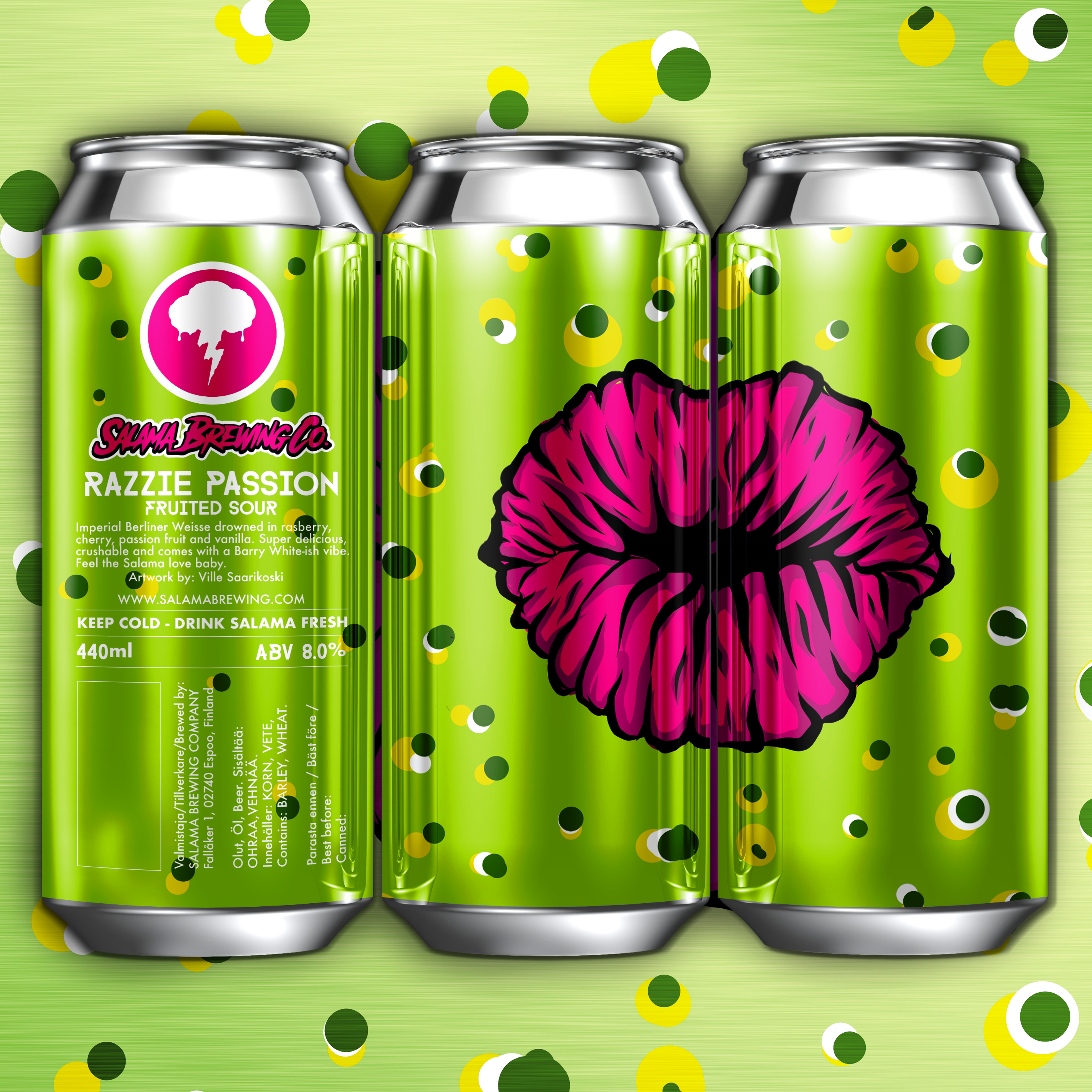 Razzie Passion Imperial Berliner Weisse 8.0% 440 can