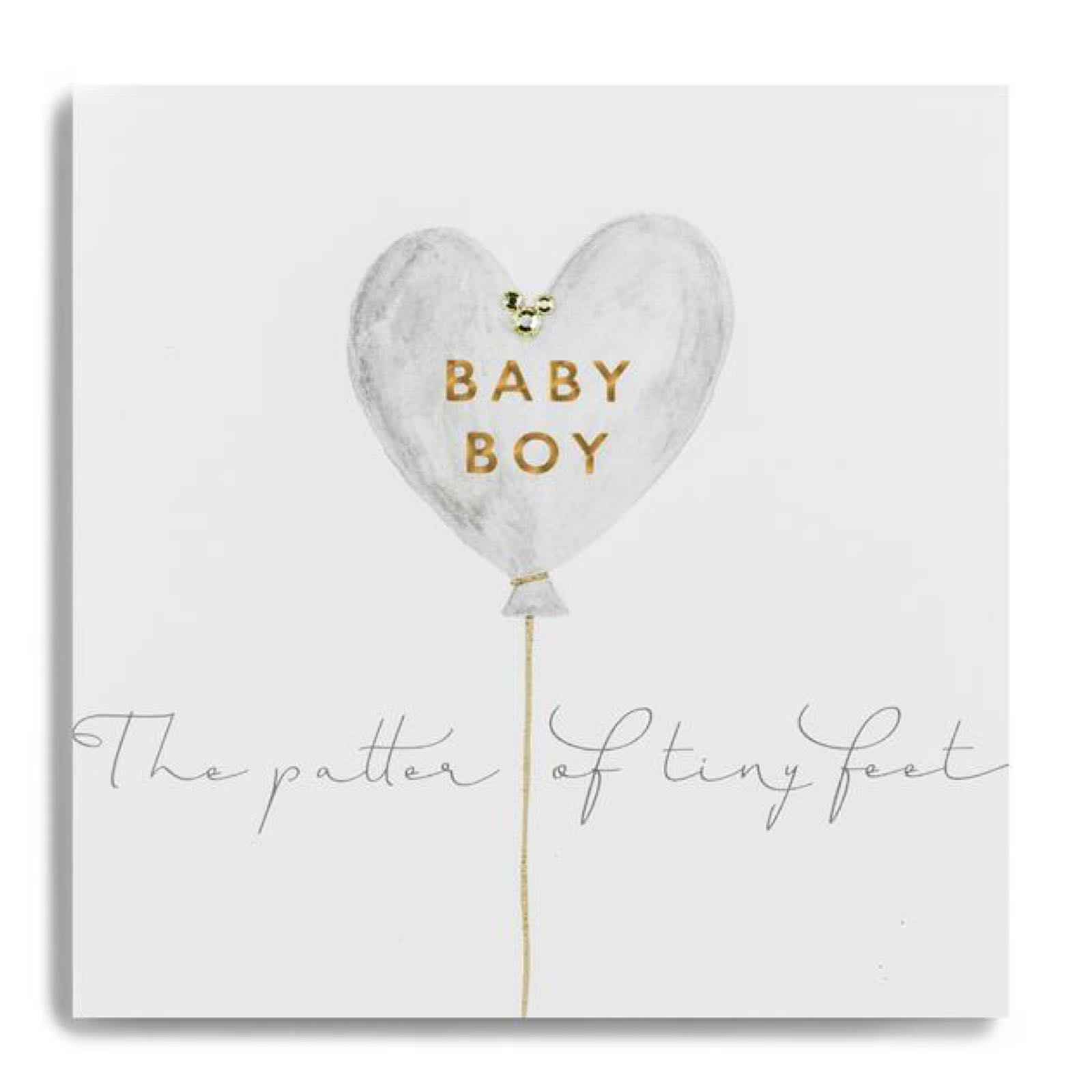 Janie Wilson gold leaf Baby boy card
