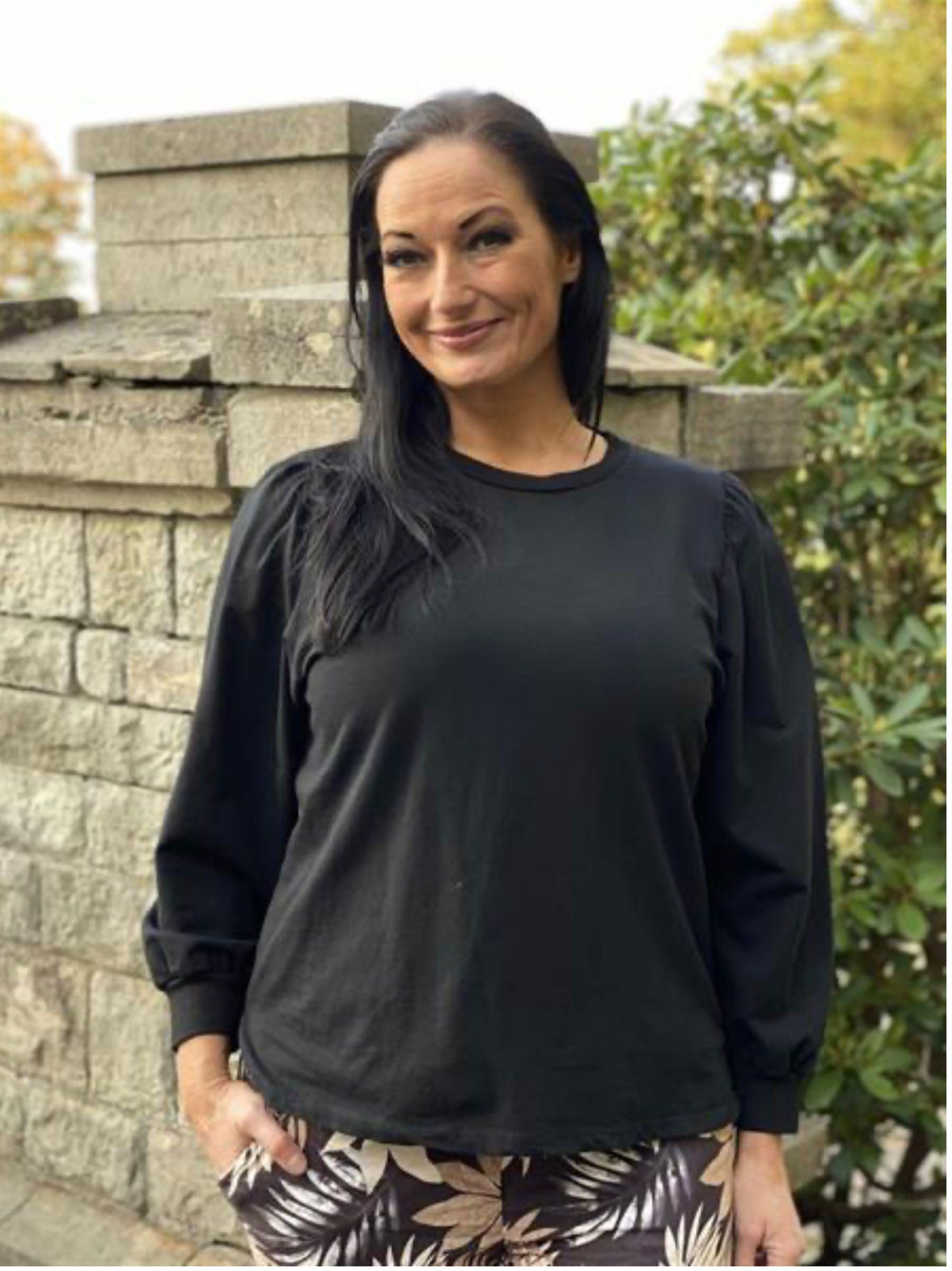 CILLA sweatshirt med puffärm
