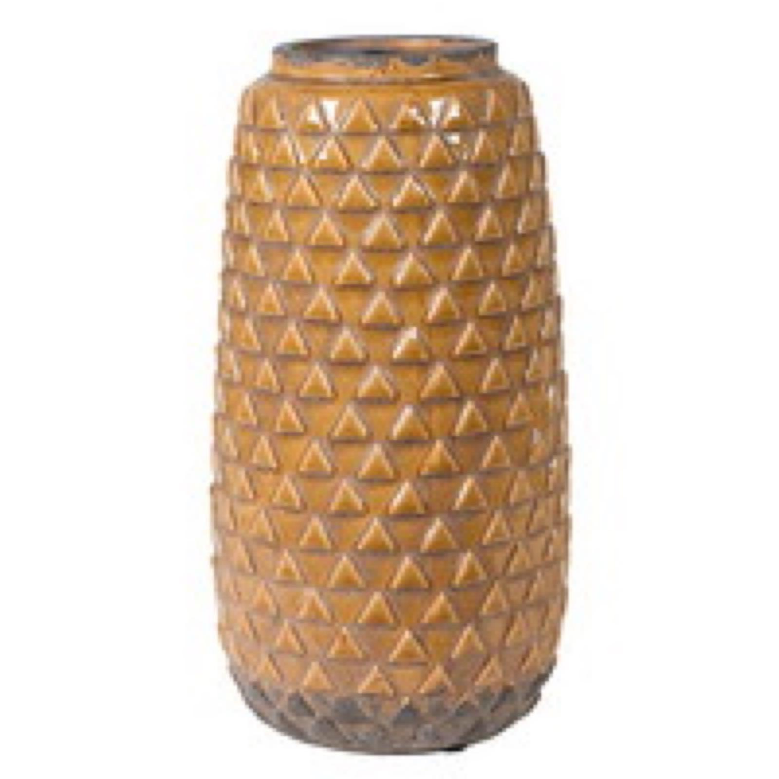 Mustard Pattern Vase
