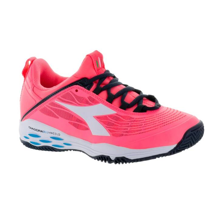 Diadora Speed Blushield Fly Fluo Coral/White [Tennis/Allcourt]
