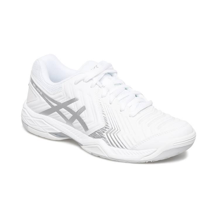 Asics Gel-Game 6 White/Silver (Strl. 42) [Tennis/Allcourt]