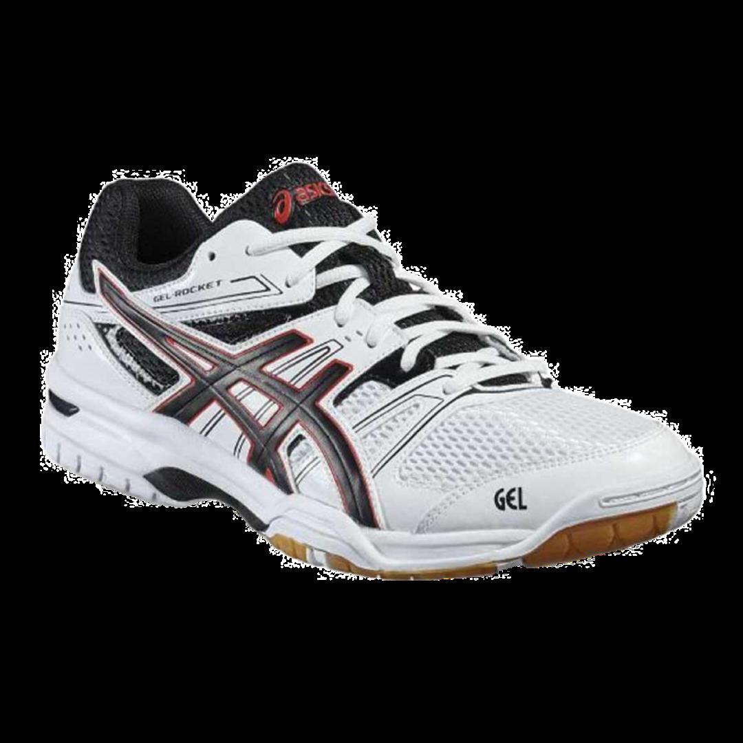 Asics Gel-Rocket 7 White/Black/Vermilion [Badminton/Squash]