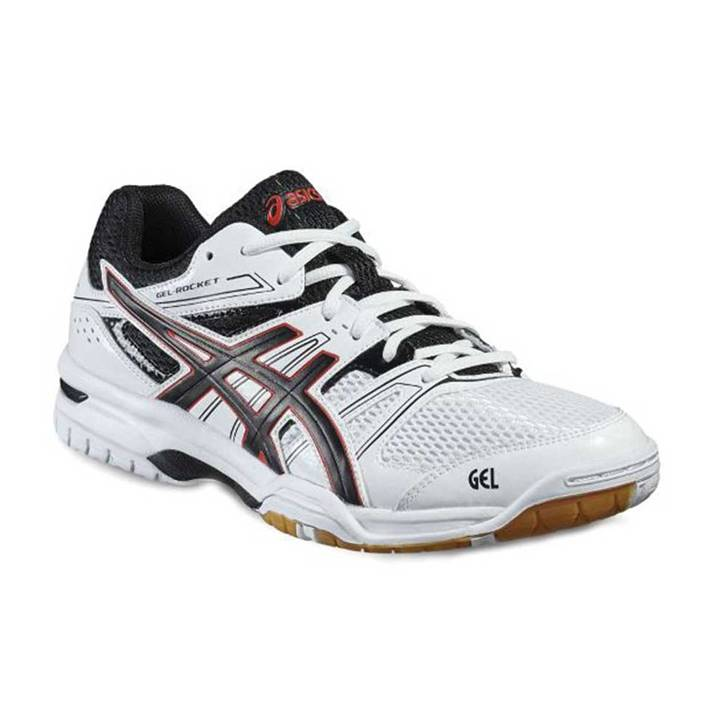 Asics Gel-Rocket 7 White/Black/Vermilion [Badminton/Squash]