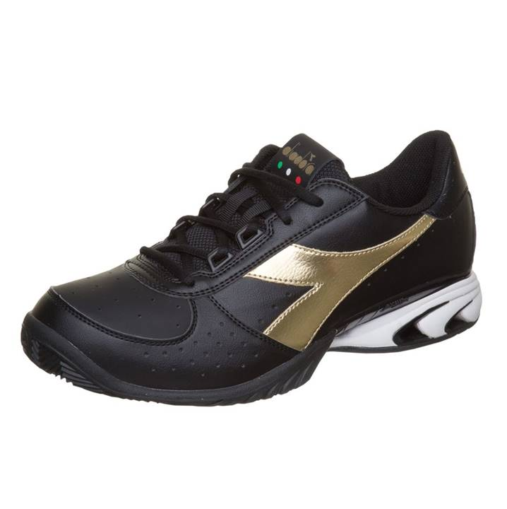 Diadora S. Star K Elite AG Black/Gold [Tennis/Allcourt]
