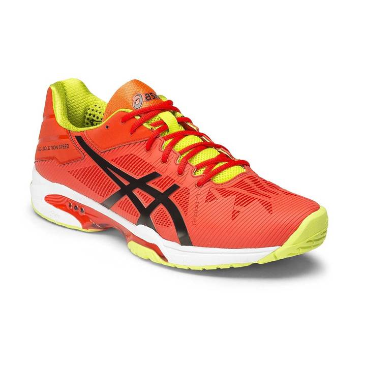 Asics Gel-Solution Speed 3 Orange/Black/Lime [Tennis/Allcourt]