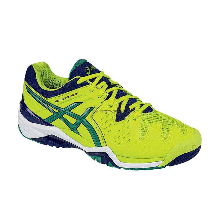 Asics Gel-Resolution 6 Lime/Pine/Indigo [Tennis/Allcourt]
