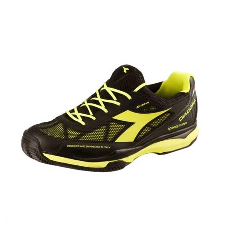 Diadora S. Pro Evo N AG Black/Fluo Yellow  [Tennis/Allcourt]