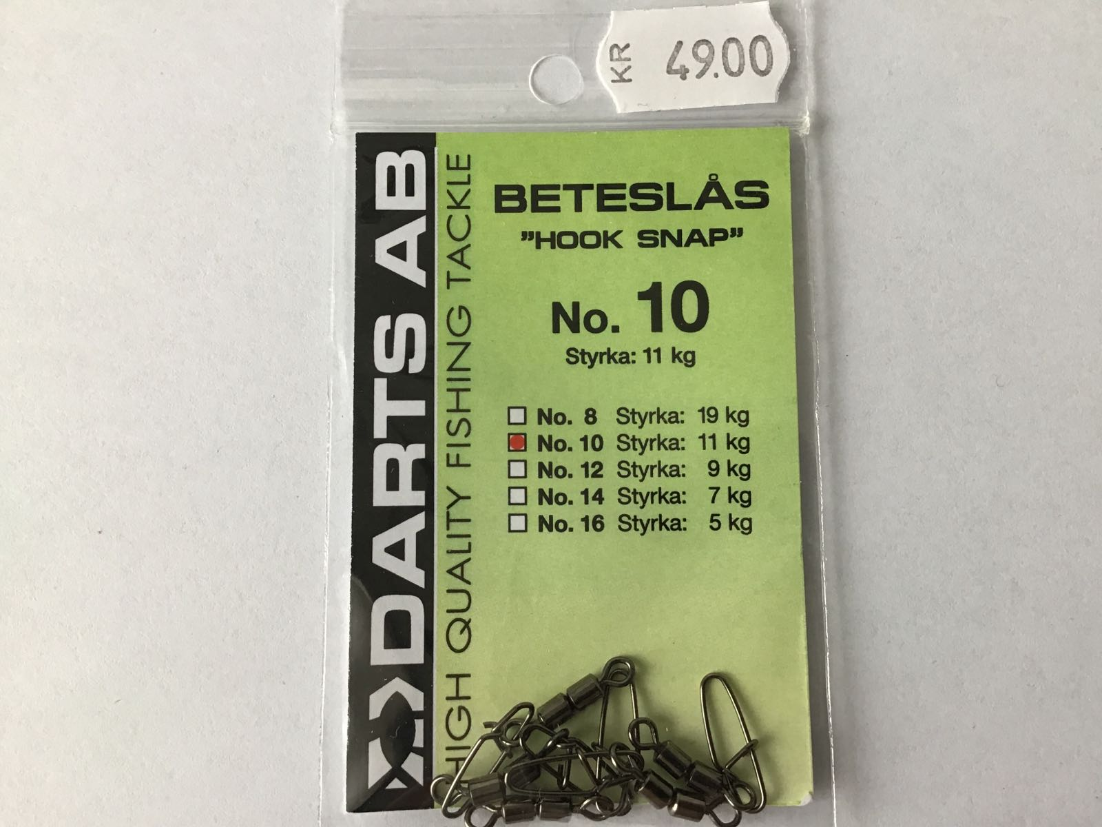 Darts beteslås hook snap no.10