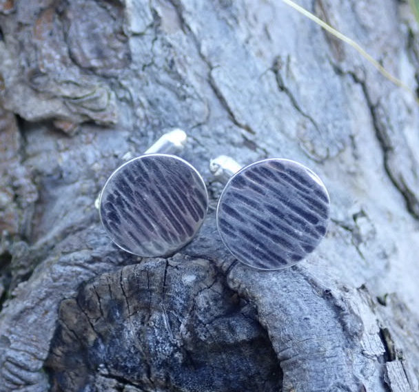Driftwood Cufflinks in Eco-silver