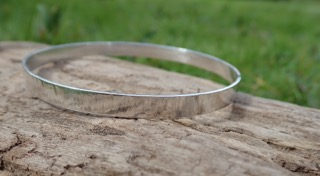 Driftwood Eco-silver Bangle 6mm