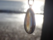 PE94 Eco-silver Sea Glass Pendant Seaham Multi Yellows