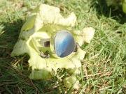 RE212 Sea Glass Ring Seaham Multi Blues/White UK P