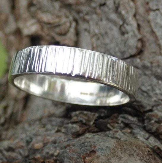 Driftwood Eco-silver Rings 4 x 1. 2mm