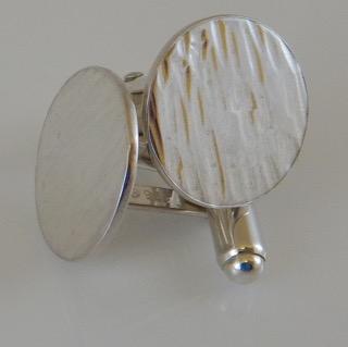 Driftwood Cufflinks in Eco-silver