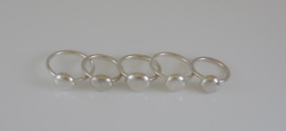Pebble Eco-silver Rings