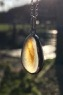 PE94 Eco-silver Seaham swirl Sea Glass Pendant