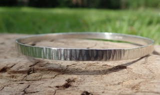 Driftwood Eco-Silver Bangle 4mm