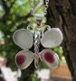 PE114 Butterfly Eco Silver and Seaham Sea Glass