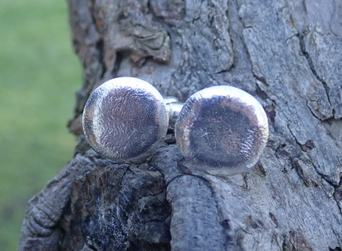 Sea Ripple Eco-silver Cufflinks