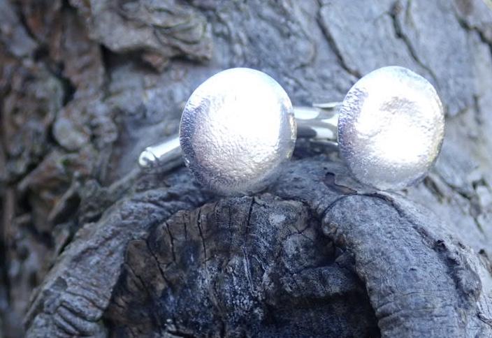 Sea Ripple Eco-silver Cufflinks