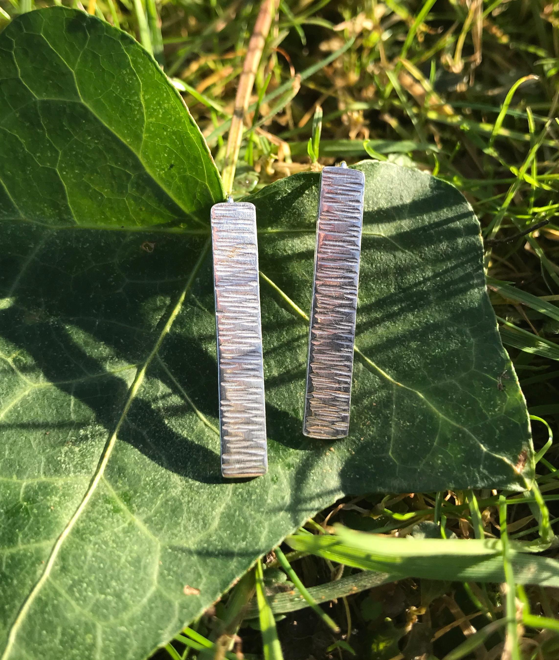 Driftwood Eco-silver Earrings Elongated