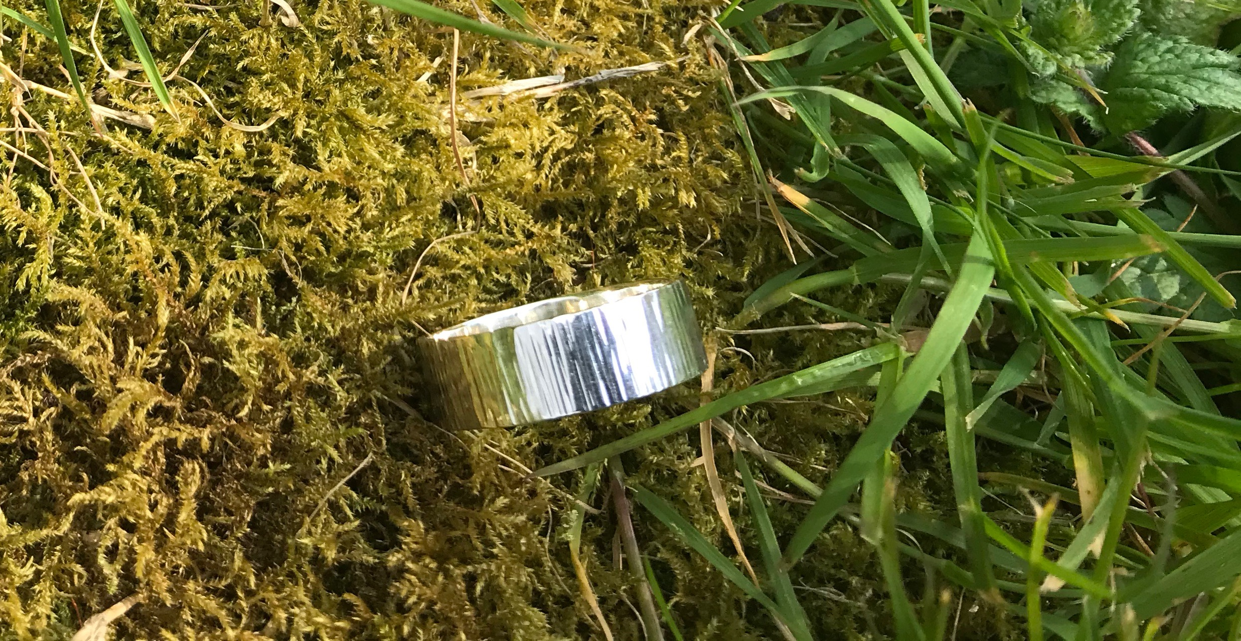 Driftwood Eco-silver Rings 7 x 1.5 mm