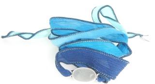 Sea Glass Boho Silk Wrist Wrap