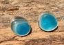 EST27 Sea Glass Earrings Seaham with Electric Blue and Aquamarine Sea Glass