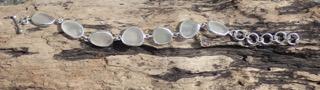 Sea Glass Open Bezel Bracelet