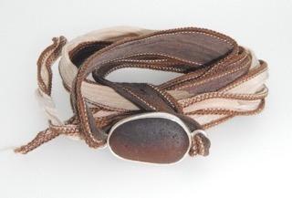 Sea Glass Boho Silk Wrist Wrap Timberland