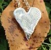 Sea Ripple Heart Pendant in Eco-silver