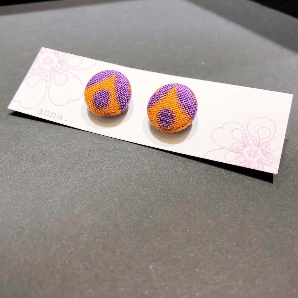 anna. earrings purple