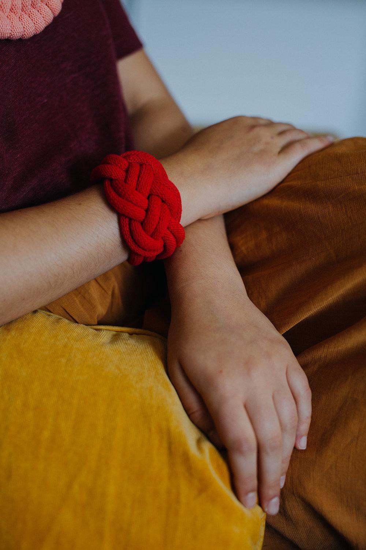 Josephine rope bracelet red