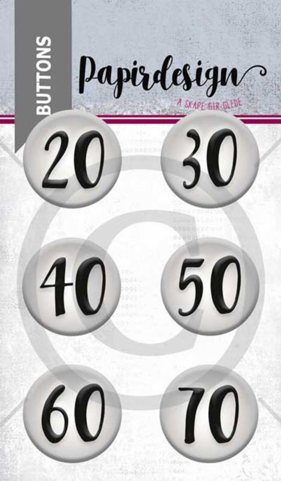 Papirdesign buttons runddager