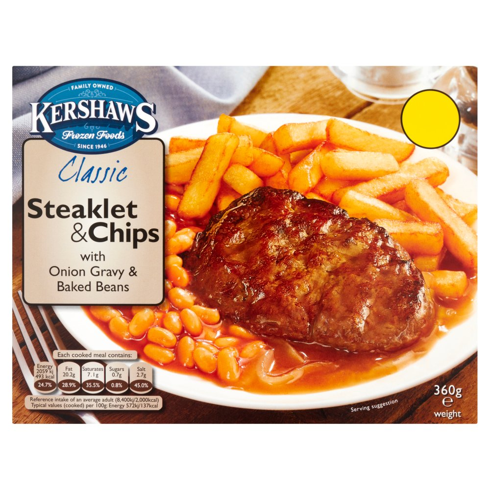 Steaklet & Chips 360g